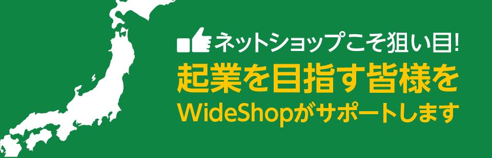 ネットショップこそ狙い目!起業を目指す皆様をWideShopがサポートします